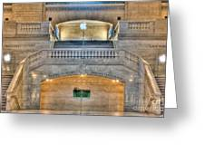 Grand Central Terminal East Balcony I Greeting Card by Clarence Holmes