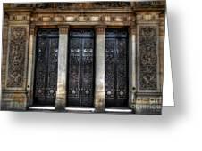 Grand Door - Leeds Town Hall Greeting Card by Yhun Suarez