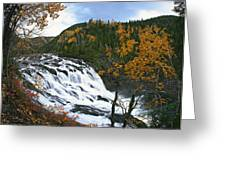 Grand-sault Falls On Madeleine River Greeting Card by Yves Marcoux