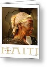 grandma - the people of Haiti series poster Greeting Card by Bob Salo