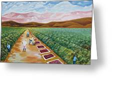 Grapes Farmers Greeting Card by Johnny Otilano