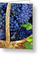Grapes In A Basket Greeting Card by Lainie Wrightson