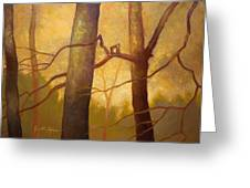 Graphic Trees Greeting Card by Jonathan Howe