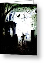 Grave Situation Greeting Card by Carl Rolfe
