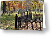 Gravestones Greeting Card by Janice Drew