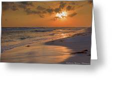 Grayton Beach Sunset 7 Greeting Card by Charles Warren