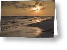 Grayton Beach Sunset Greeting Card by Charles Warren