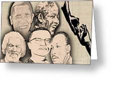 Great Powerful African American Men Greeting Card by Belinda Threeths