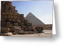 Great Pyramids Khafre Greeting Card by Darcy Michaelchuk