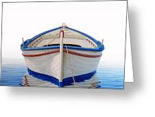 Greek Boat Greeting Card by Horacio Cardozo