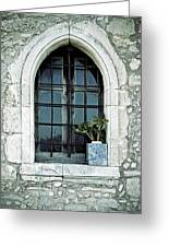 Greek Chapel Greeting Card by Joana Kruse