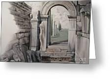 Greek Portal Greeting Card by Joyce Hutchinson
