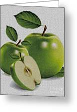 Green Apples Greeting Card by Cheryl Young