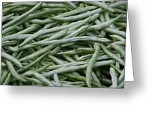 Green Beans Greeting Card by David Buffington