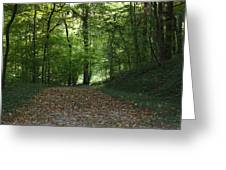 Green Cemetery Road Greeting Card by James Collier