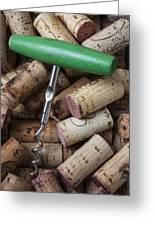 Green Corkscrew Greeting Card by Garry Gay