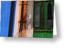 Green Door Greeting Card by Skip Hunt