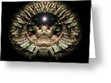 Green Eye Sphere Greeting Card by David Kleinsasser