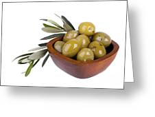 Green Olives Greeting Card by Jane Rix
