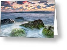 Green Stones Greeting Card by Evgeni Dinev