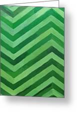 Green Stripes Greeting Card by Kazuya Akimoto