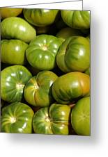 Green Tomatoes Greeting Card by Frank Tschakert