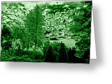 Green Zone Greeting Card by Will Borden
