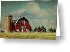 Greenbluff Barn Greeting Card by Reflective Moment Photography And Digital Art Images