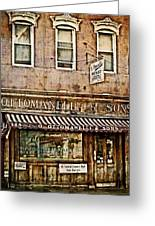 Greenwich Village Meat Market Greeting Card by Kathy Jennings