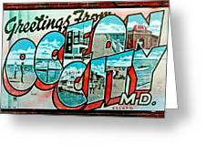 Greetings From Oc Greeting Card by Skip Willits