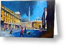Grey Street Newcastle Greeting Card by Neil McBride