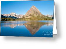 Grinnell Point Greeting Card by Andrew J Martinez and Photo Researchers
