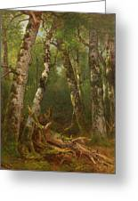 Group Of Trees Greeting Card by Asher Brown Durand