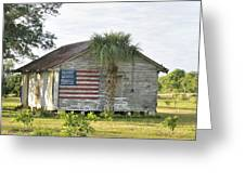 Grove Shack With Flag Greeting Card by Bradford Martin