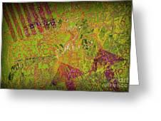 Grunge Background 4 Greeting Card by Carlos Caetano