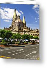 Guadalajara Cathedral Greeting Card by Elena Elisseeva
