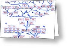 Guggenheim Family Tree Greeting Card by Science Source