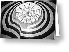 Guggenheim Museum Bw16 Greeting Card by Scott Kelley