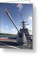 Guided-missile Destroyer Uss Jason Greeting Card by Stocktrek Images