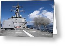 Guided-missile Destroyer Uss Pinckney Greeting Card by Stocktrek Images
