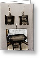 Guitar Glass Tile Set Greeting Card by Darleen Stry