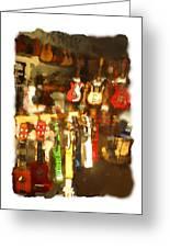 Guitar Shop Greeting Card by Geoff Strehlow