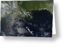 Gulf Oil Spill, April 2010 Greeting Card by NASA