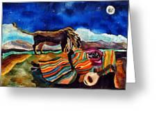 Gypsy Tribute To Henri Rousseau Greeting Card by Sandra Kern