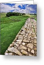 Hadrian's Wall Greeting Card by Wendy White