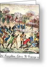 Haiti: Slave Revolt, 1791 Greeting Card by Granger