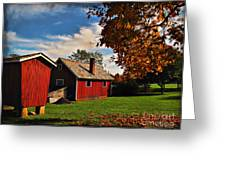 Hale Farm In Autumn Greeting Card by Joan  Minchak