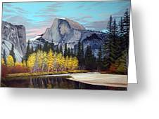 Half-dome Greeting Card by Rick Gallant