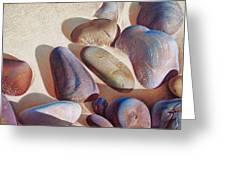 Hallett Cove's Stones - Detail Greeting Card by Elena Kolotusha