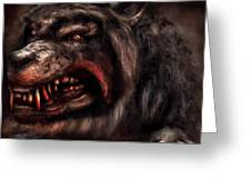 Halloween -  Mad Dog Greeting Card by Mike Savad